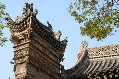 Chinese traditional architectural art Stock Photos