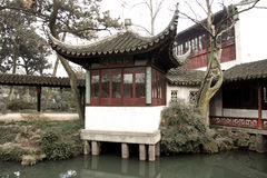 Chinese traditional architecture. The photo was taken in Suzhou Royalty Free Stock Photography
