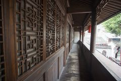 Chinese traditional architecture. With wood as the main building materials, with cornices and symmetrical pattern features Royalty Free Stock Image