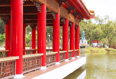Chinese traditional architecture in the park Royalty Free Stock Images