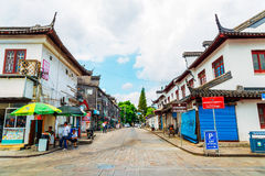Chinese traditional architecture and street in Shanghai Zhujiajiao water town Stock Photography