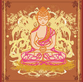 Chinese Traditional Artistic Buddhism Pattern Royalty Free Stock Image