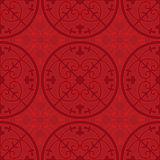 Chinese traditional auspicious flower pattern. Vector seamless pattern of Chinese traditional auspicious flower stock illustration