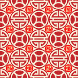 Chinese traditional auspicious seamless background. Symbolic meaning of blessing, wealth. for East Asian culture holiday classic retro visual design vector illustration