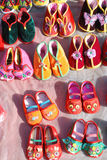 Chinese traditional baby cloth shoes Royalty Free Stock Photo