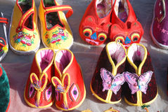 Chinese Traditional Baby Cloth Shoes Royalty Free Stock Photos