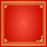 Chinese Traditional Background, The Great Wall Style Frame.  royalty free illustration