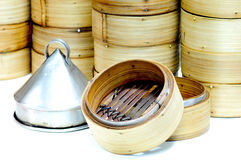 Chinese Traditional Bamboo Dimsum Royalty Free Stock Photos