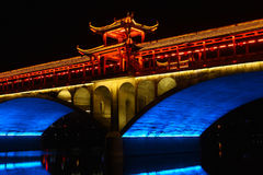 Chinese traditional bridge in night Stock Photography