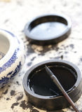 Chinese traditional brush pen and ink. For calligraphy Stock Photography