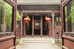 A chinese traditional building. A courtyard of  chinese traditional building Stock Images