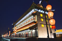 Chinese traditional building architecture at night Royalty Free Stock Images