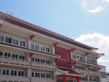 Chinese traditional building with blue sky background Royalty Free Stock Photo
