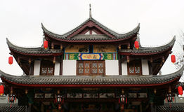 Chinese traditional building with lantern Royalty Free Stock Image