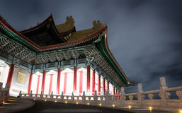 Chinese traditional building night Royalty Free Stock Image