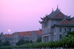 Chinese traditional buildings. This photo shows some South Fujian traditional buildings, which located in Xiamen University, taken on May 2, 2010 Royalty Free Stock Image