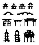 Chinese traditional buildings. Design element Royalty Free Stock Photography