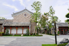 Chinese traditional buildings in shade on cloudy day Stock Photography