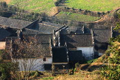 Chinese traditional buildings in village Stock Photography