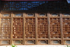 Chinese traditional chased window. Woodwindows, chased windows of the local house ,Lijiang,Yunnan ,china Stock Photos
