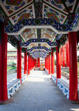Chinese traditional corridor Stock Image