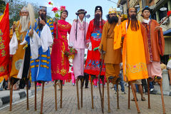 Chinese traditional costumes Royalty Free Stock Photos