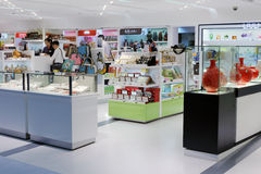 Chinese traditional crafts counter in taipei 101 building Stock Images