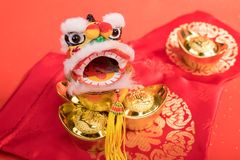 Chinese traditional dancing lion Stock Images
