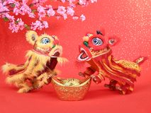Chinese traditional dancing lion Stock Image