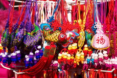 Chinese traditional decorative knot Stock Photos