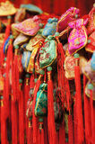 Chinese traditional decorative knot. In marketplace stock photography