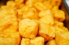 Chinese traditional delicious food: Fried Tofu. Chinese traditional delicious food fried tofu features stock photos