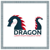 Chinese Traditional Dragon. East Asia. Vector flat illustration. Royalty Free Stock Images