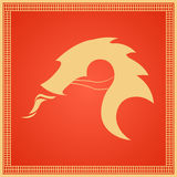 Chinese Traditional Dragon. East Asia. Vector flat illustration. Stock Photo