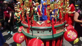 Chinese traditional drum in parade Royalty Free Stock Images
