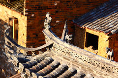 Chinese traditional eaves details Stock Photos