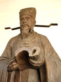 Chinese traditional effigy. Cooper litterateur effigy in Beijing,China Royalty Free Stock Images