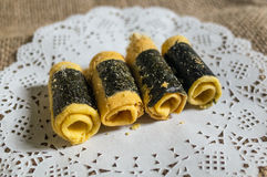 Chinese Traditional egg rolls food Stock Photos