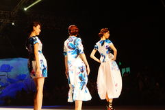 Chinese traditional fashion model show Stock Image