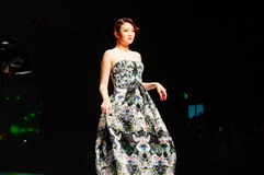 Chinese traditional fashion model show Royalty Free Stock Photo