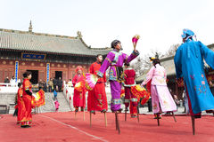 Chinese traditional festivals -- stilt Royalty Free Stock Image