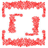 Chinese traditional floral ornament Royalty Free Stock Photo