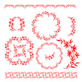 Chinese traditional floral ornament Royalty Free Stock Photography