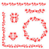 Chinese traditional floral ornament Royalty Free Stock Images