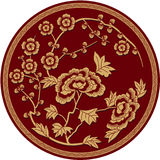 Chinese Traditional Floral Pattern Stock Photography