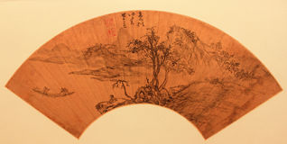 Chinese traditional folding fan Stock Image