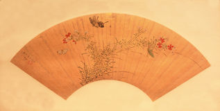 Chinese traditional folding fan Stock Photos