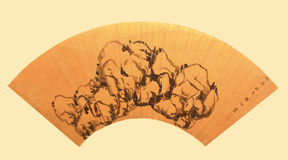 Chinese traditional folding fan Royalty Free Stock Photography