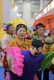 Chinese traditional folk, carry wife on the back Stock Images