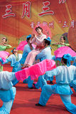 Chinese traditional  folk dance Royalty Free Stock Photography